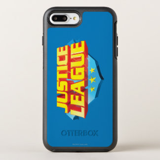 Justice League Name and Shield Logo OtterBox Symmetry iPhone 7 Plus Case