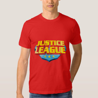 Justice League Name and Shield Logo Shirts