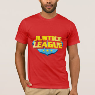Justice League Name and Shield Logo T-Shirt