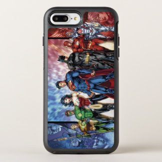 Justice League   New 52 Justice League Line Up OtterBox Symmetry iPhone 7 Plus Case