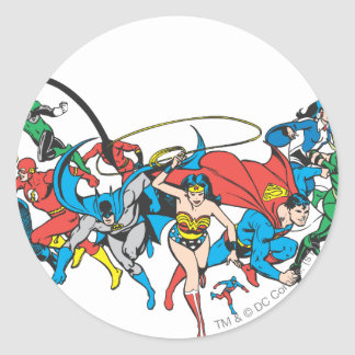 Justice League of America Group 2 Round Sticker