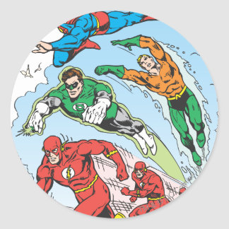 Justice League of America Group 3 Round Sticker