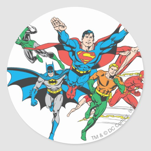 Justice League of America Group 4 Sticker