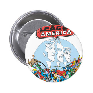 Justice League of America Group 2 Inch Round Button