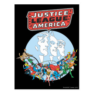 Justice League of America Group Postcard