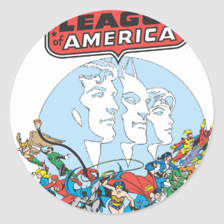 Justice League of America Group Round Sticker