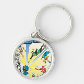 Justice League of America Issue #12 - June Silver-Colored Round Keychain