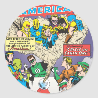 Justice League of America Issue #21 - Aug Classic Round Sticker