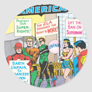 Justice League of America Issue #28 - June Round Stickers