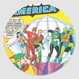 Justice League of America Issue #4 - May Round Sticker