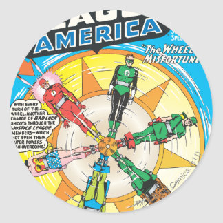 Justice League of America Issue #6 - Sept Round Stickers