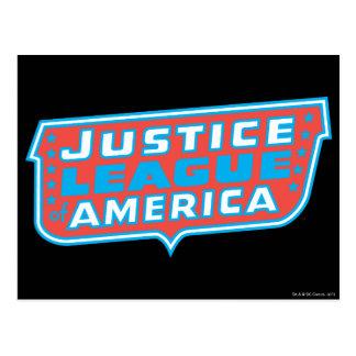 Justice League of America Logo Postcard
