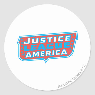 Justice League of America Logo Round Sticker