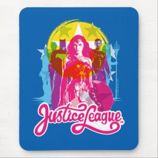 Justice League | Retro Group & Logo Pop Art Mouse Pad