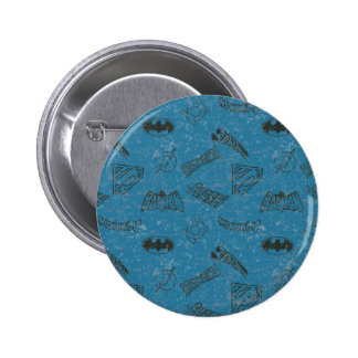 Justice League Rise Up Pattern 2 Inch Round Button