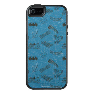Justice League Rise Up Pattern OtterBox iPhone 5/5s/SE Case