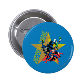 Justice League Star Heroes 2 Inch Round Button