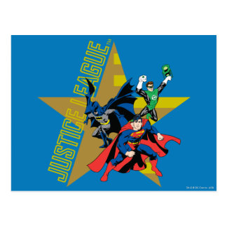 Justice League Star Heroes Postcard