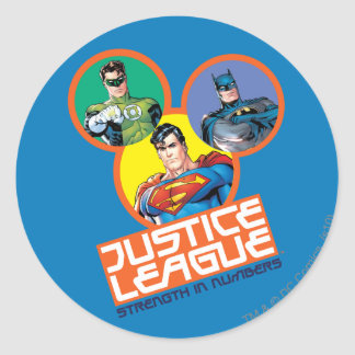"Justice League ""Strength in Numbers"" Classic Round Sticker"