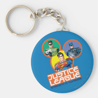 """Justice League """"Strength in Numbers"""" Basic Round Button Keychain"""