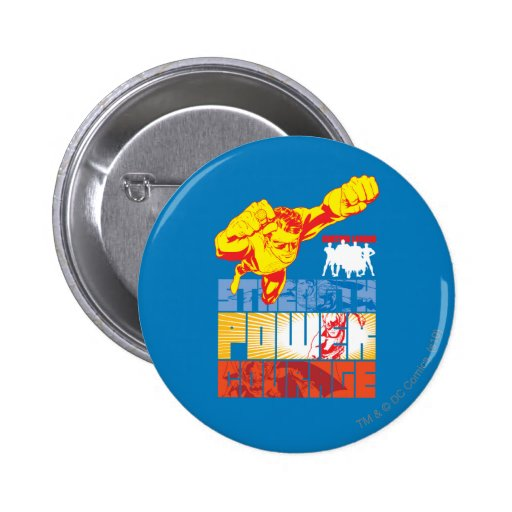 Justice League Strength. Power. Courage. Character 2 Inch Round Button