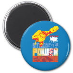 Justice League Strength. Power. Courage. Character 2 Inch Round Magnet