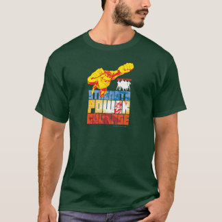 Justice League Strength. Power. Courage. Character T-Shirt
