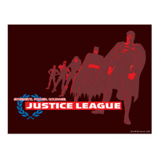 Justice League Strength. Power. Courage. Ensemble Postcard