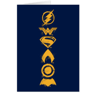 Justice League | Stylized Team Symbols Lineup Card