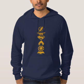 Justice League   Stylized Team Symbols Lineup Hoodie