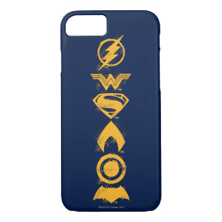Justice League | Stylized Team Symbols Lineup iPhone 8/7 Case