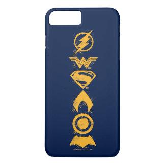 Justice League | Stylized Team Symbols Lineup iPhone 8 Plus/7 Plus Case