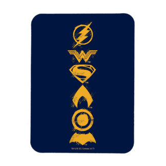 Justice League | Stylized Team Symbols Lineup Magnet
