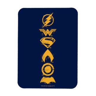 Justice League | Stylized Team Symbols Lineup Magnet