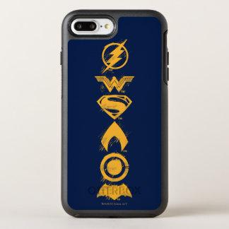 Justice League | Stylized Team Symbols Lineup OtterBox Symmetry iPhone 8 Plus/7 Plus Case
