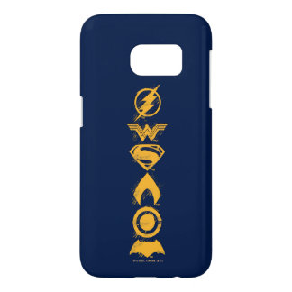 Justice League | Stylized Team Symbols Lineup Samsung Galaxy S7 Case