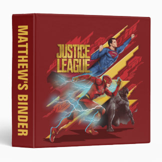 Justice League | Superman, Flash, & Batman Badge 3 Ring Binder