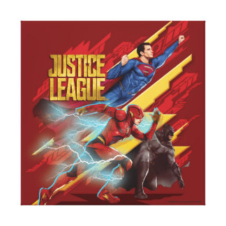 Justice League | Superman, Flash, & Batman Badge Canvas Print