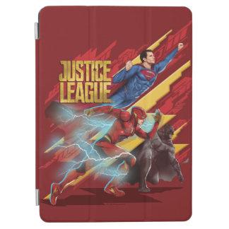 Justice League | Superman, Flash, & Batman Badge iPad Air Cover