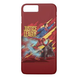 Justice League | Superman, Flash, & Batman Badge iPhone 8 Plus/7 Plus Case
