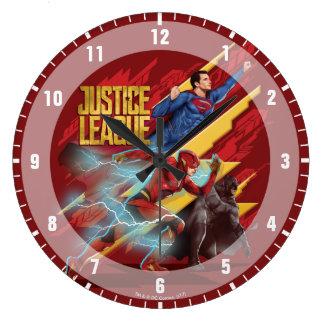 Justice League | Superman, Flash, & Batman Badge Large Clock