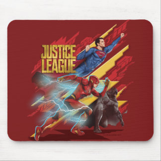 Justice League | Superman, Flash, & Batman Badge Mouse Pad