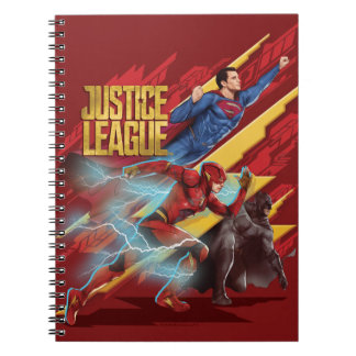 Justice League | Superman, Flash, & Batman Badge Notebook