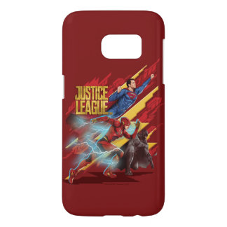 Justice League | Superman, Flash, & Batman Badge Samsung Galaxy S7 Case