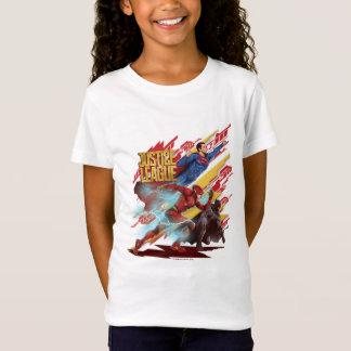 Justice League | Superman, Flash, & Batman Badge T-Shirt