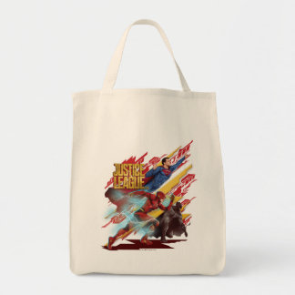 Justice League | Superman, Flash, & Batman Badge Tote Bag