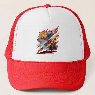 Justice League | Superman, Flash, & Batman Badge Trucker Hat