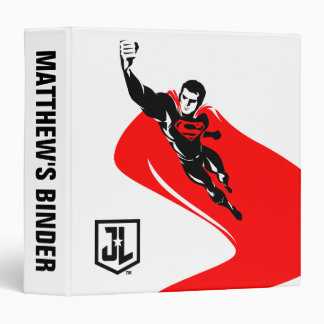 Justice League | Superman Flying Noir Pop Art 3 Ring Binders
