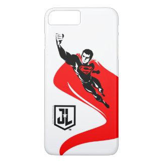 Justice League | Superman Flying Noir Pop Art iPhone 8 Plus/7 Plus Case