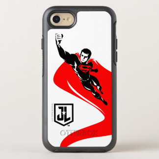 Justice League | Superman Flying Noir Pop Art OtterBox Symmetry iPhone 8/7 Case